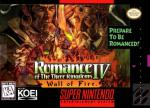 Romance of the Three Kingdoms IV - Wall of Fire Boxart